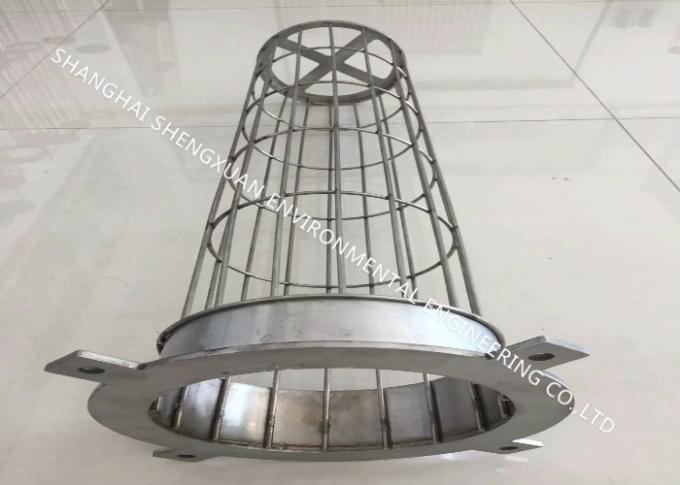 DN 125 x 6000 mm Length Filter Bag Cage For Dry GCP Plant Dust Collectors