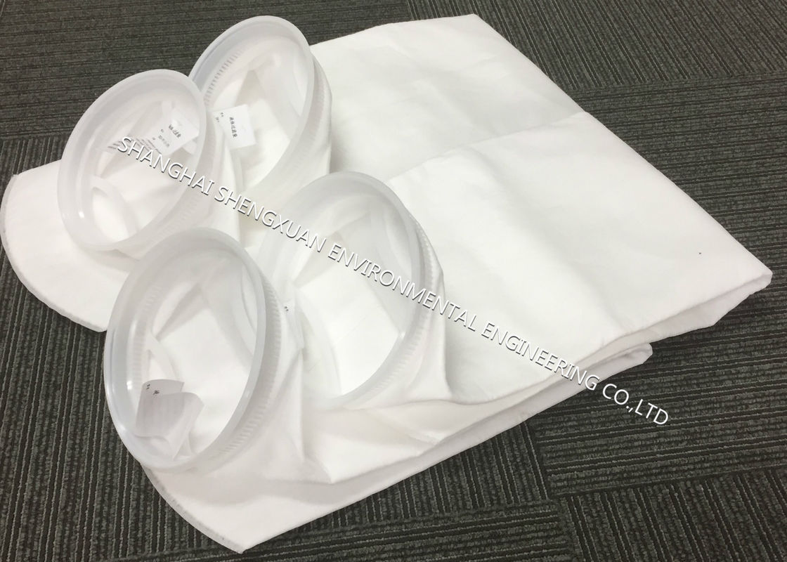 Industrial Micron Filter Bags , SE - Stitched Seam Treatment Micron Needle Felt Filter Bags