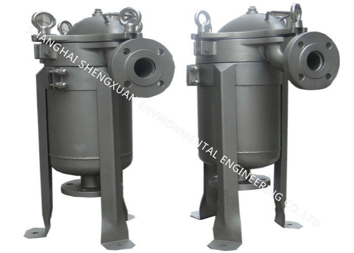 High Capacity Bag Filter Vessel , Liquid Filter Housing For Water Treatment Industry