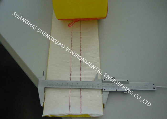Polyester Woven Type Air Slide Cloth DN 76mm With One Side Yellow PU Coating