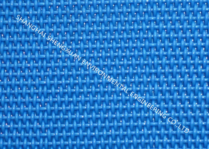 Flat Surface Polyester Mesh Belt Plain Weave Heat Resistance For Sewage Treatment