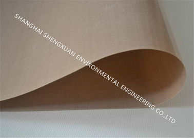 Brown Color Teflon Conveyor Belt , High Temperature Conveyor Belt With Silicone Adhesive